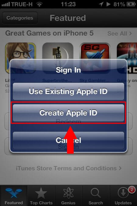 create appleID