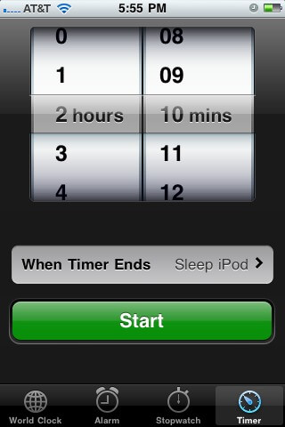  iPod, iPhone  iPad  Timer